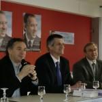 Jean LASSALLE à Saint-Flour entre le sénateur JARLIER et Vladimir TATISSCHEFF